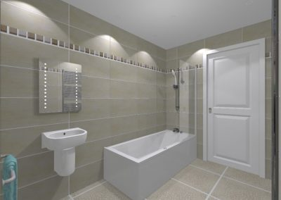 3D Render Bathroom Design