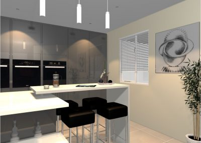 3D Render Kitchen Design
