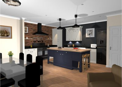 3D Render Kitchen Design2